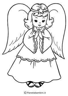 disegni da colorare per bambini natale angeli
