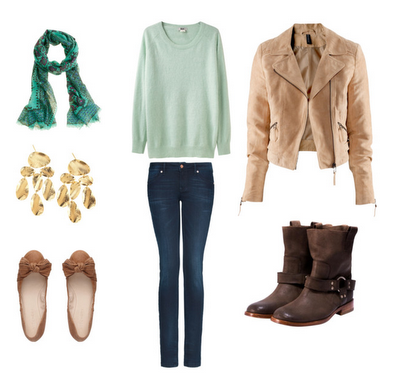 Classic style with a little spunk. This is a great outfit for a girl's senior portraits!
