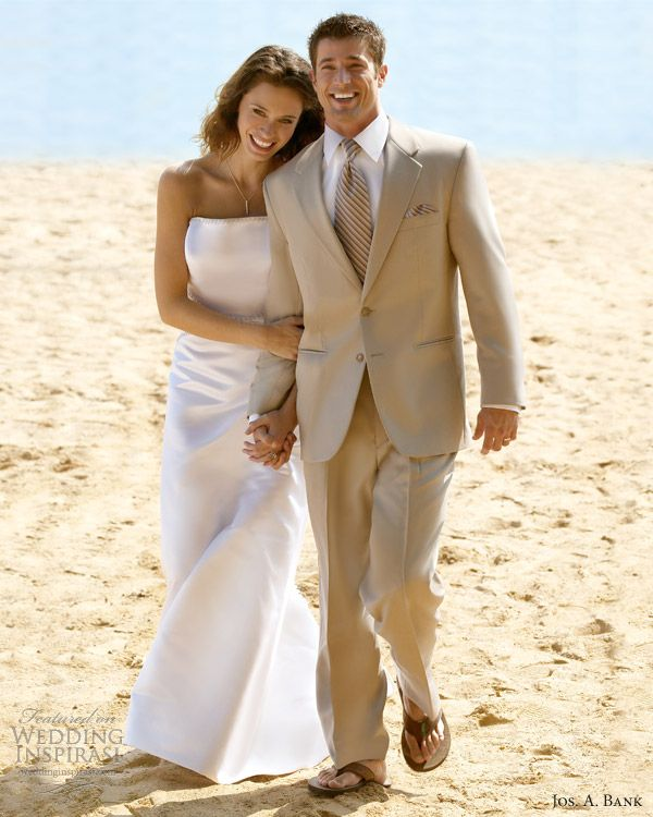 Beige Tuxedos Weddings