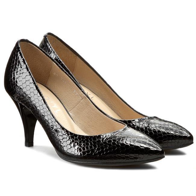 pret de fabrica neînvins x preț mai mic cu Pantofi KOTYL - 744 Czarny Łuska   SHOES   Shoes, Fashion, Heels