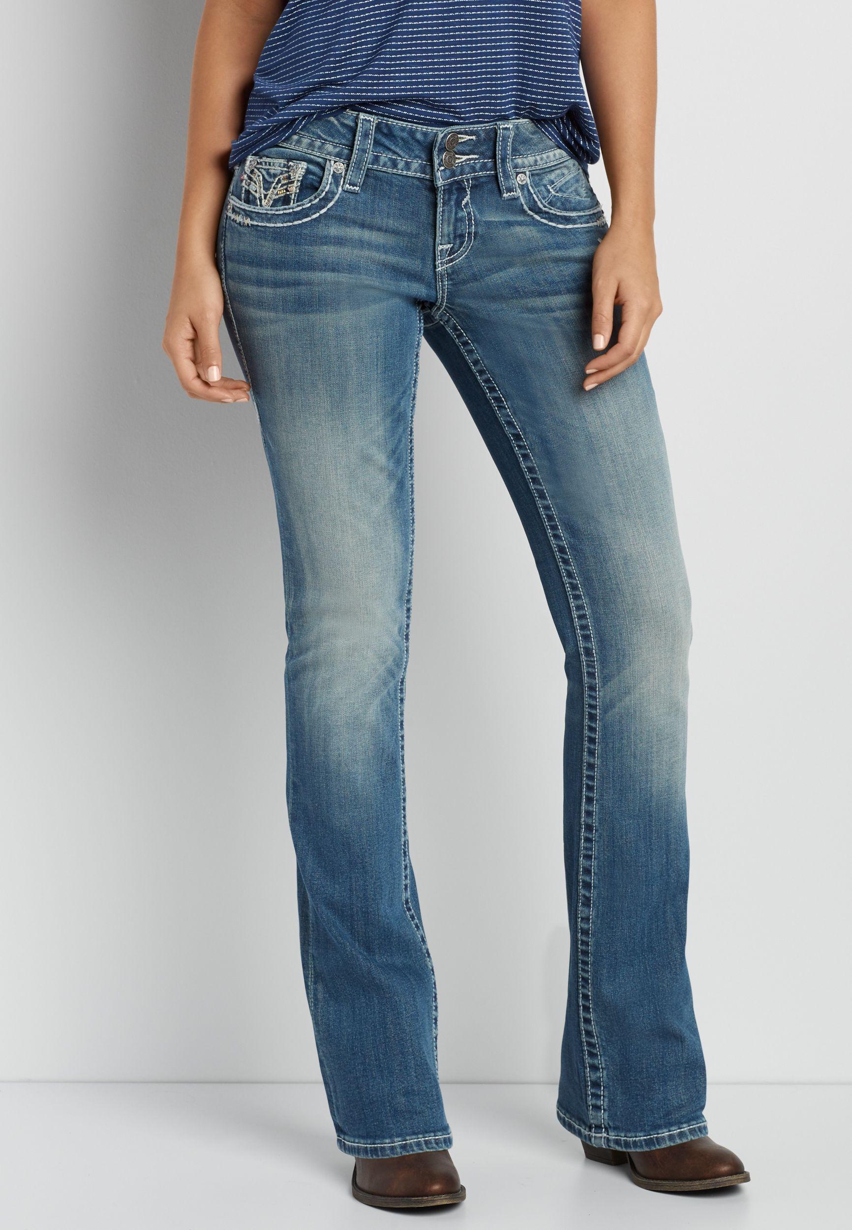 08ea5a3bf33c Vigoss ® medium wash bootcut jeans with back flap pockets (original price
