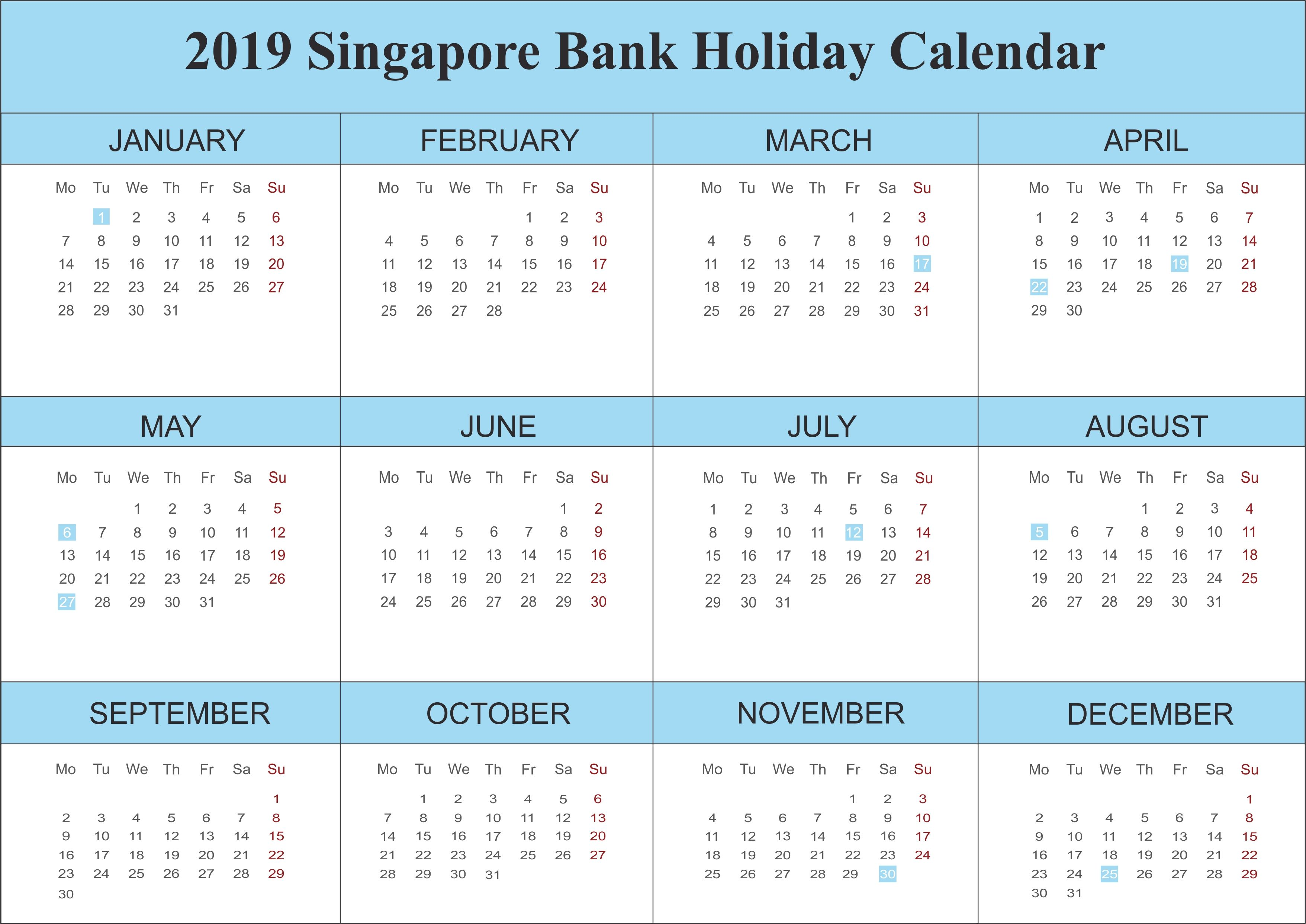 Free Singapore Calendar 2019 Pdf Excel Word Template April 2018 Get Holiday Calendar Holiday Calendar Printable Calendar Template