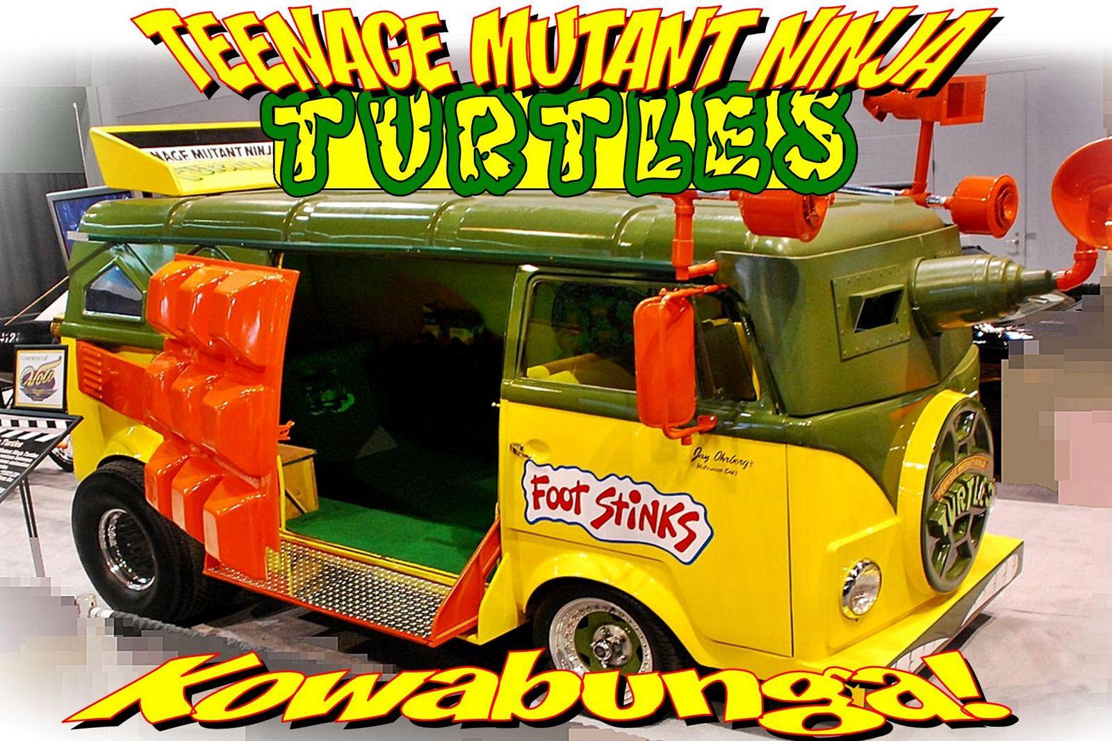 A kids' favorite, Ninja Turtle van as seen in the Ninja