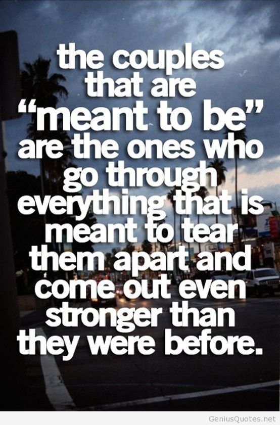 Meant to be couples quote