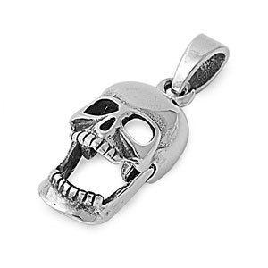 Sterling Silver SAMHAIN HALLOWEEN Skull Pendant by MagickCats, $17.50