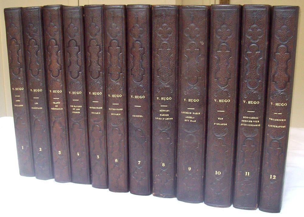 Details Sur Oeuvres De Victor Hugo T1 A 12 Reliure 1 2