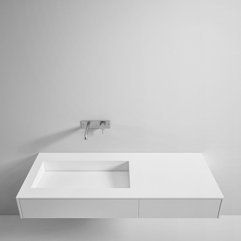 Wand Waschbecken Rechteckig Aus Corian Modern Top Unico