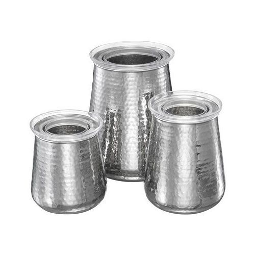 Food Storage Containers Stainless Steel Kitchen Canister Set Piece Modern Ebay