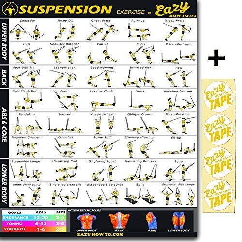 Dumbbell Exercise Poster Vol 2 Laminated Workout Strength