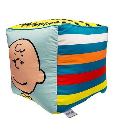 This Peanuts Classic Cube Pillow is perfect! #zulilyfinds
