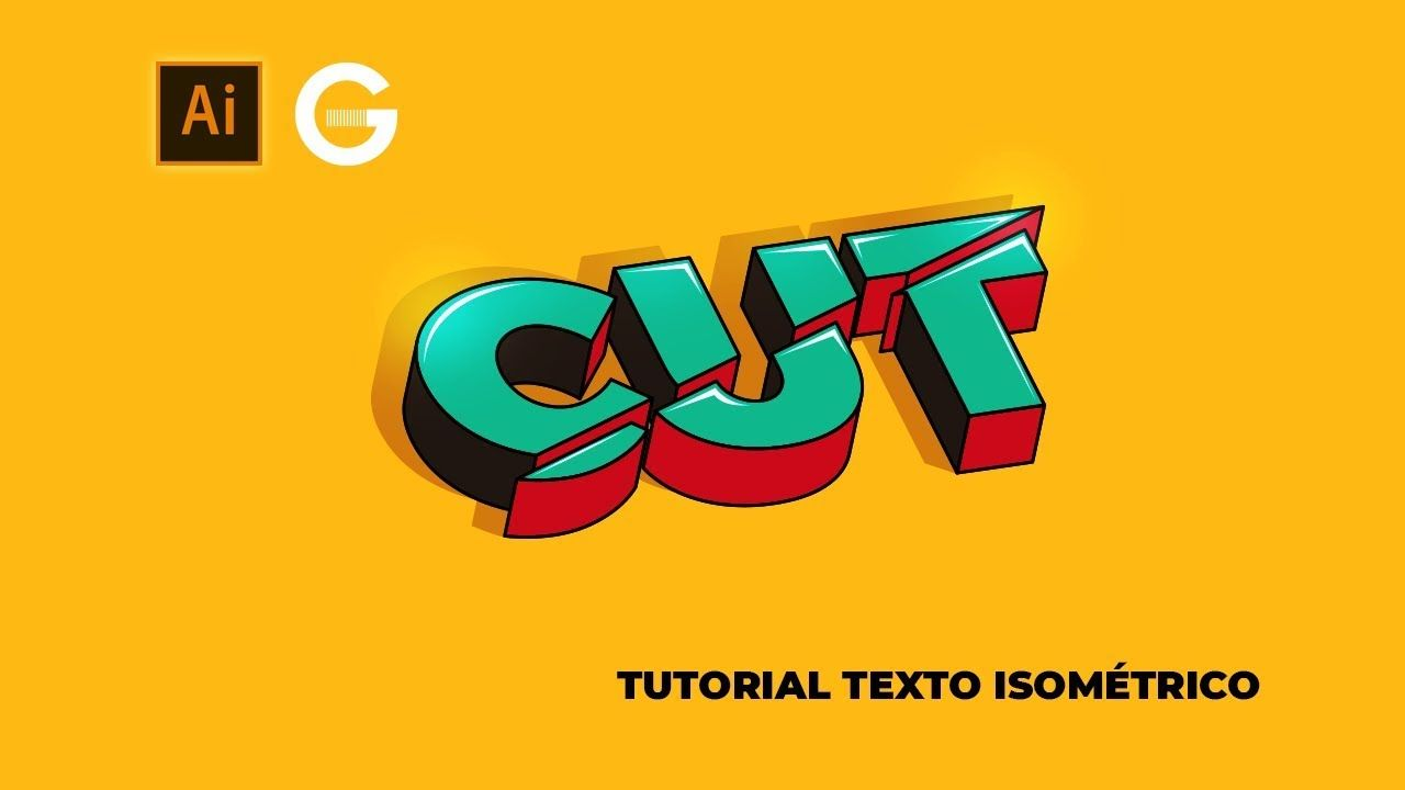 Illustrator Tutorial Texto 3d Isométrico 3d Isometric Text Ilustrator