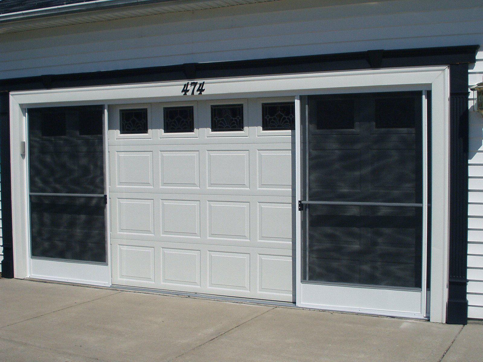 How to build sliding garage doors - Garage Screen Sliding Door Installation Call Rupp Overhead Door Buffalo Area 716 655 5109