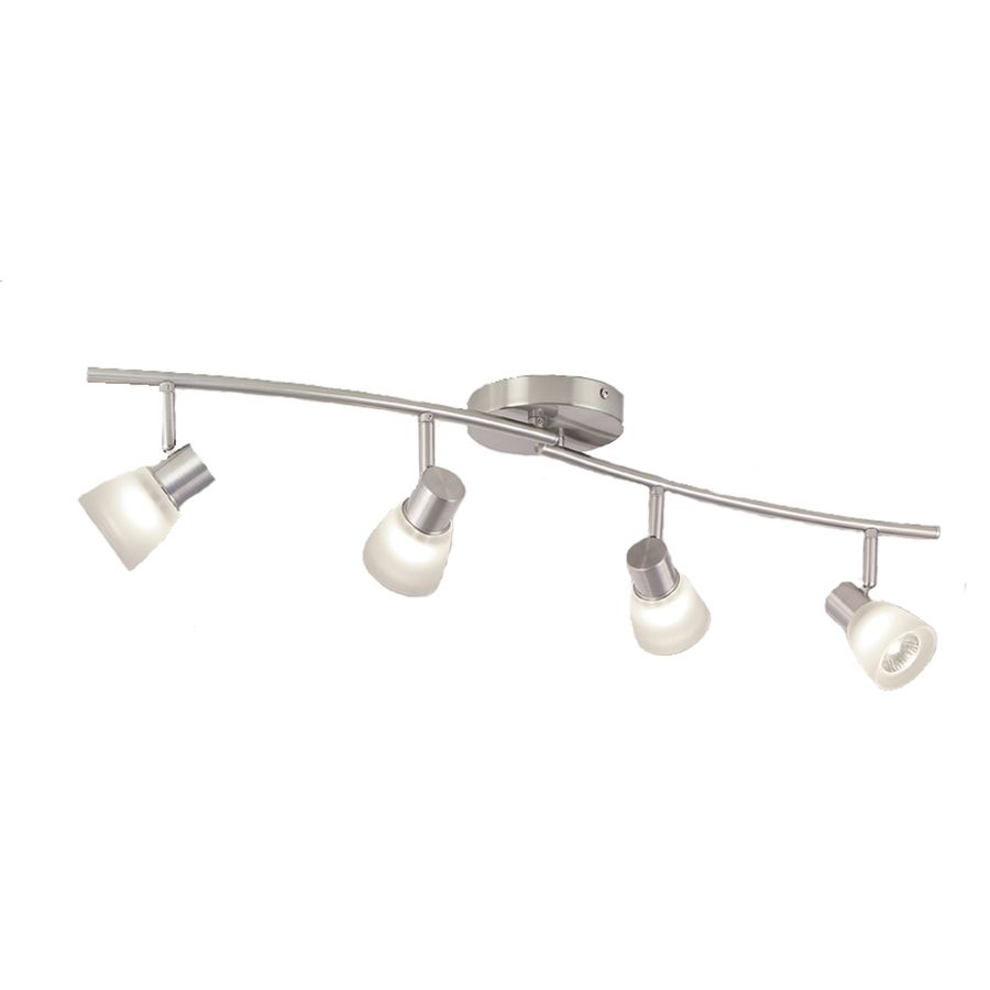 LIVING ROOM Shop Style Selections 4 Light Brushed Nickel Fixed Track Kit At
