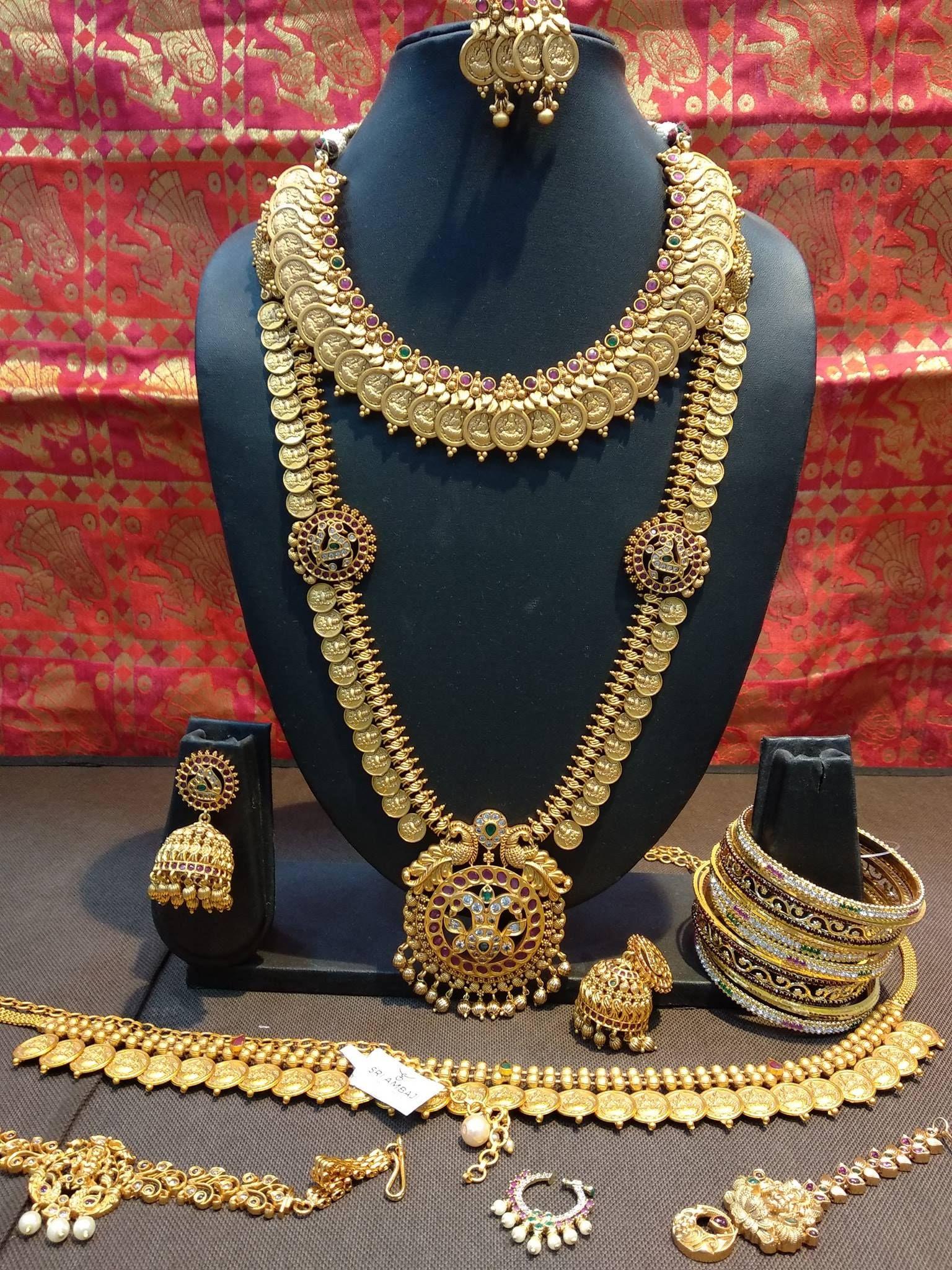 Beautiful one gram gold bridal set. 11 January 2019
