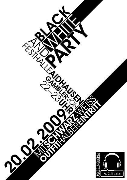 Black  White Flyer Graphic Design Flyer design, Black, white