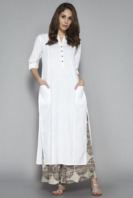 Ihram Kids For Sale Dubai: Utsa By Westside White Solid Kurta