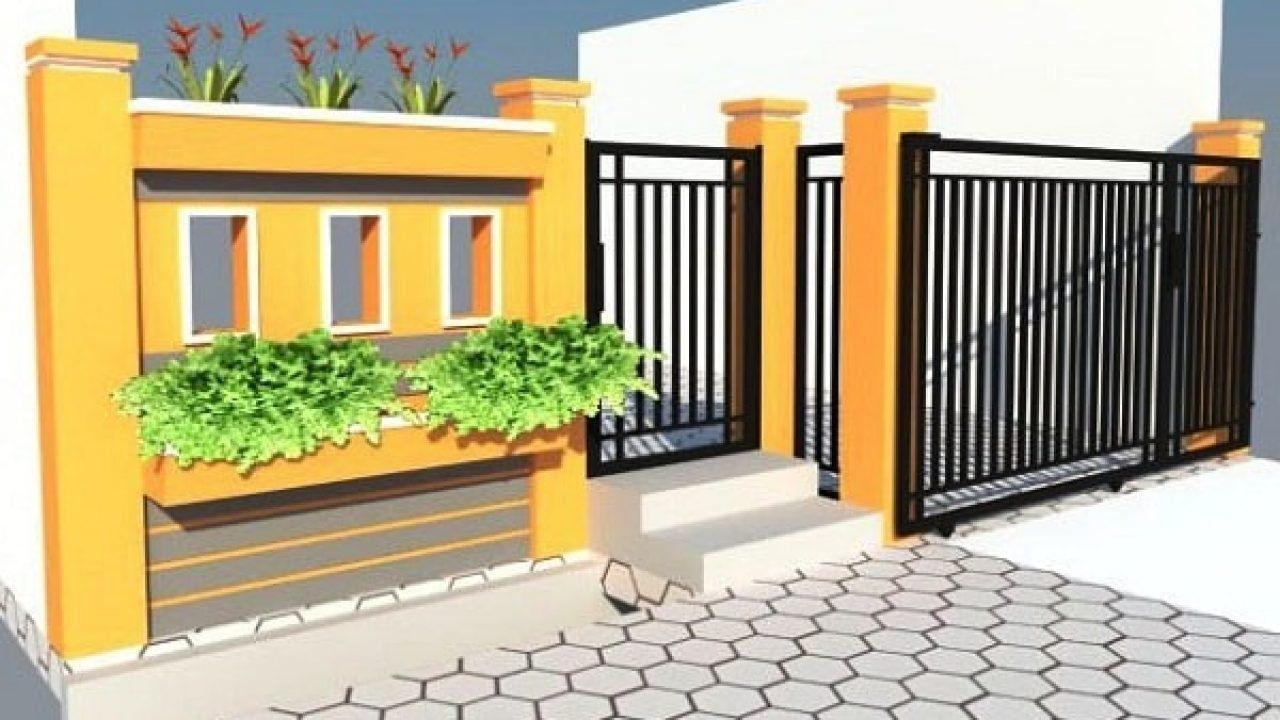 Desain Pagar Tembok Rumah Type 36 Minimalis Terbaru 2016 Cek Bahan Bangunan