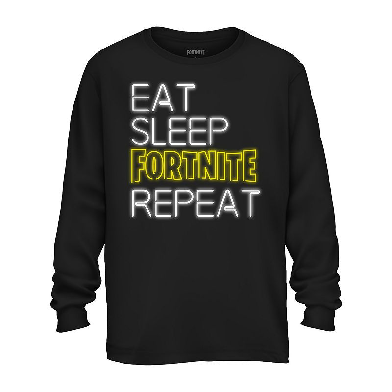 Fortnite Boys Teenagers Text Logo Long Sleeve T Shirt