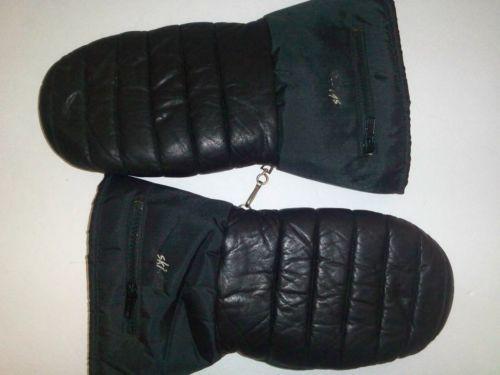 SKI Doo Leather/Nylon Snowmobile Gloves Mittens Ladies X-Large SEE Pics details