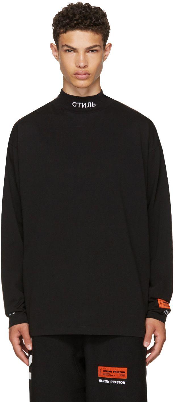12c5de68 HERON PRESTON Black Long Sleeve 'For You' T-Shirt. #heronpreston #cloth #t- shirt