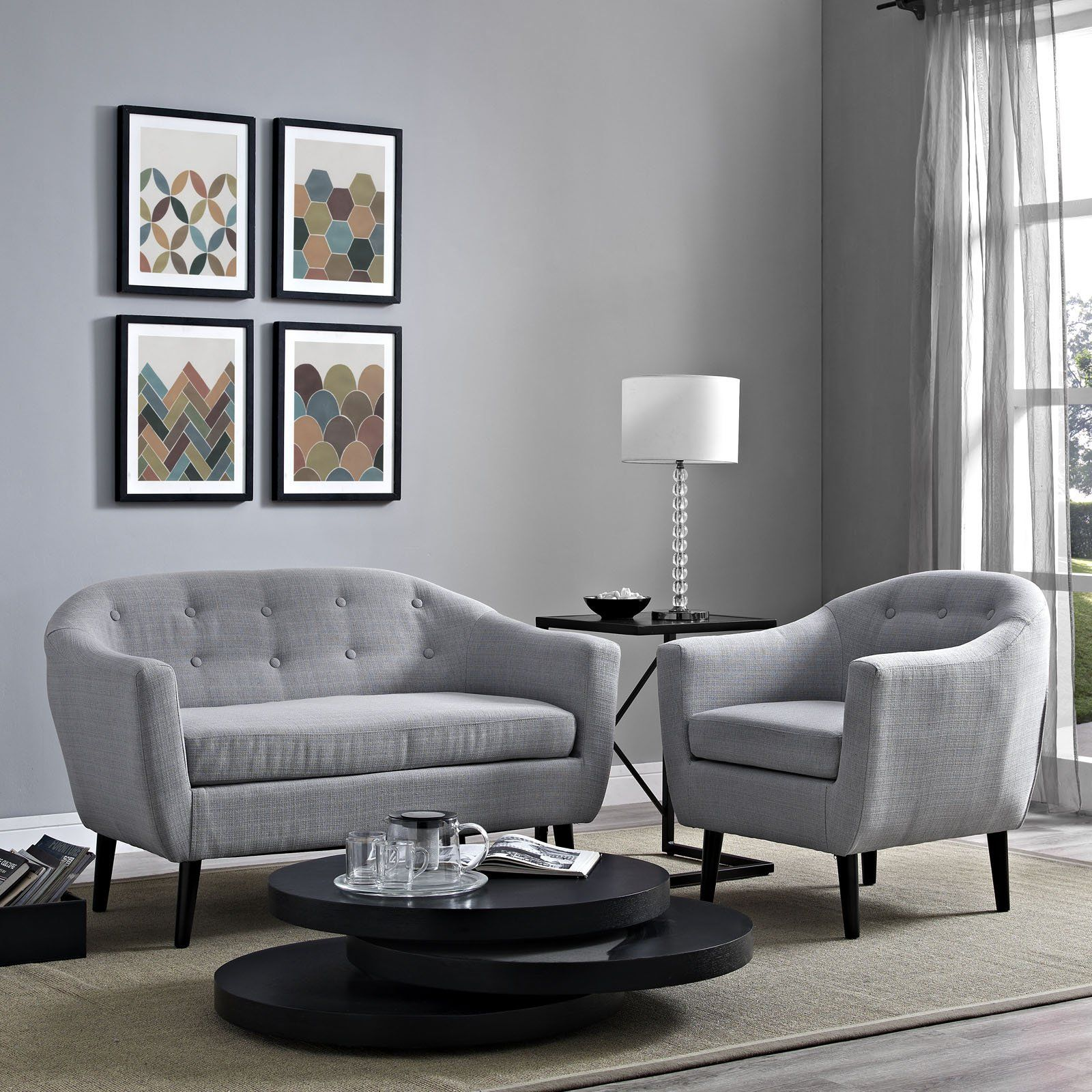 Modway Furniture Modern Wit 2 Piece Living Room Set - EEI ...