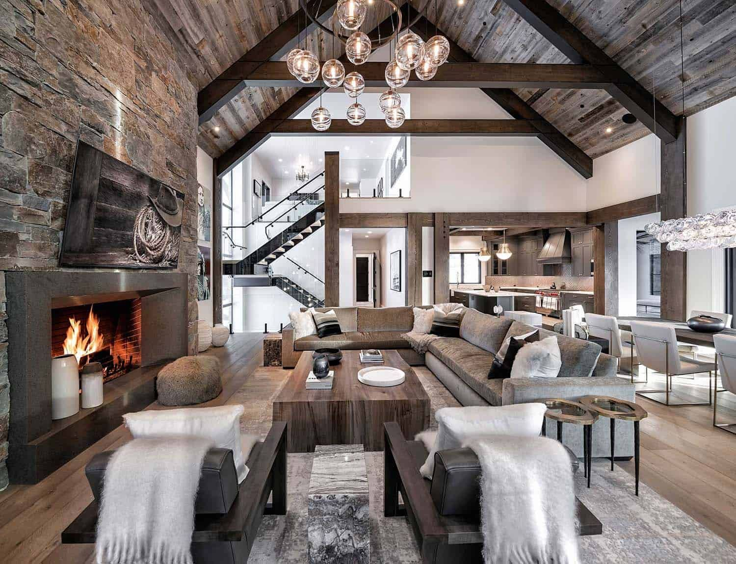60 Most Popular Living Rooms Featured On One Kindesign For 2019 Modern Rustic Living Room Mountain Modern Home Minimalist Living Room Decor Modern cabin living room