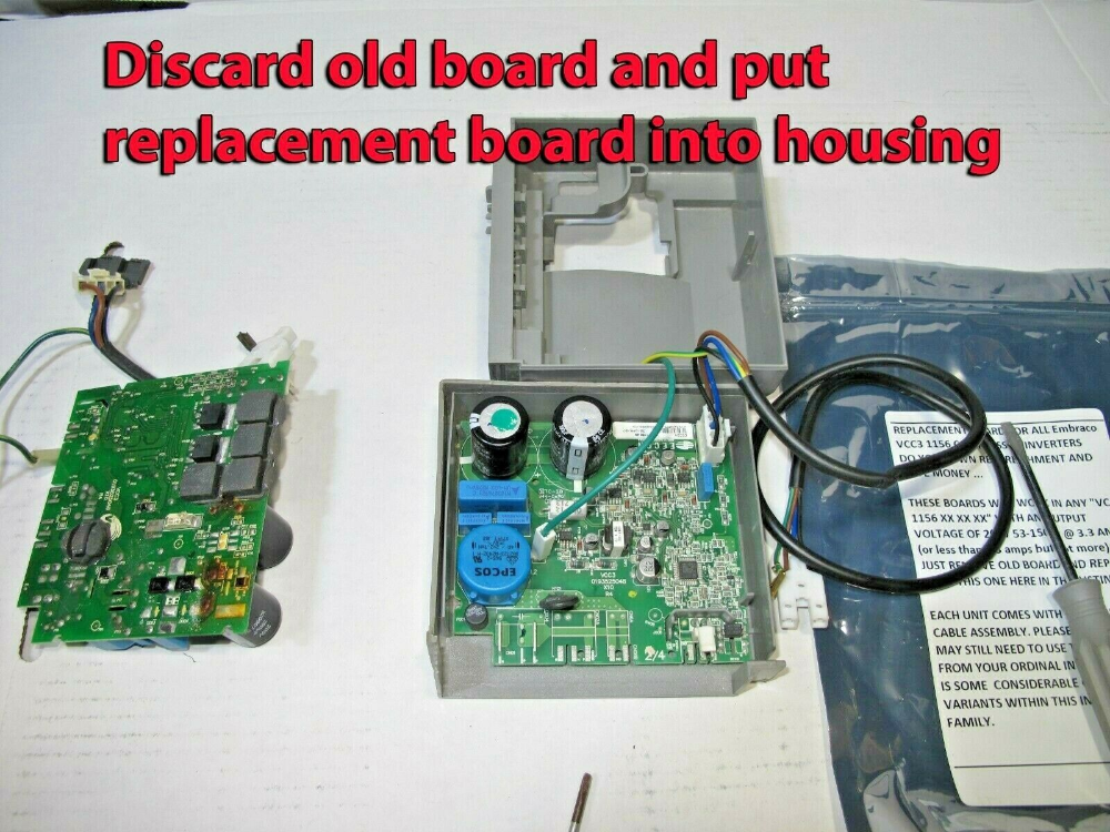 Replacement Board For All Embraco Vcc3 1156 Compressor Inverters Ebay Ebay Kitchenaid Refrigerator Power Source