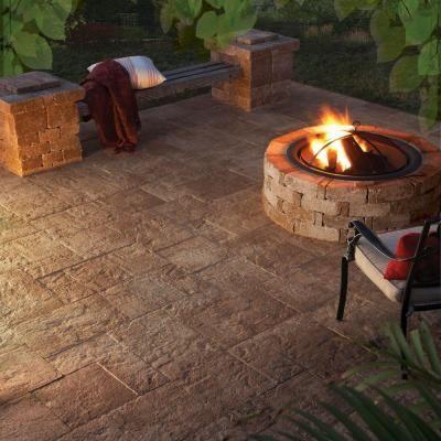 pavestone 10 ft x 10 ft abbronza blend capriana combo patio on a