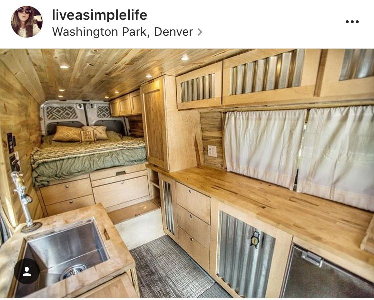 Rv Interior Camper Conversion Sprinter Van Living The Life Ideas Happy Campers Glamping