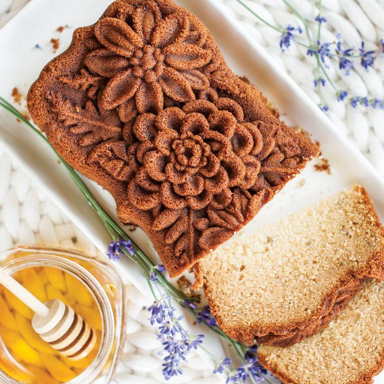 Lemon Honey Lavender Floral Loaf Recipe Cake Baking Pans No