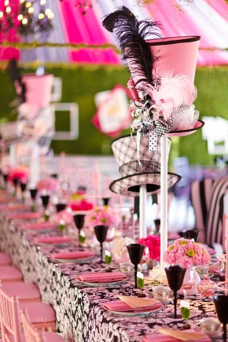Mad hatter tea party decoration ideas - Festa Alice No Pa S Das Maravilhas 50 Ideias Mad Hatter Partymad Hatter Teawedding