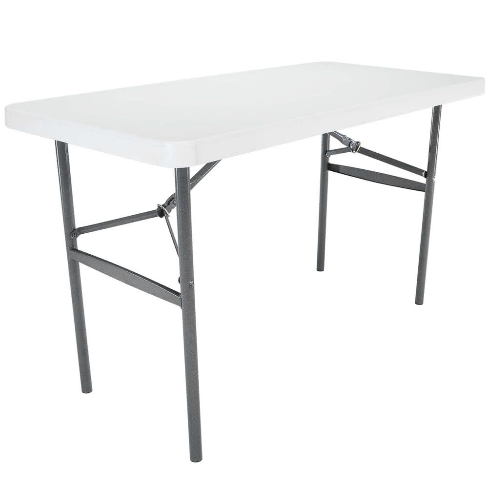 Lifetime Folding Table 24 X 48 Plastic White Granite 22950