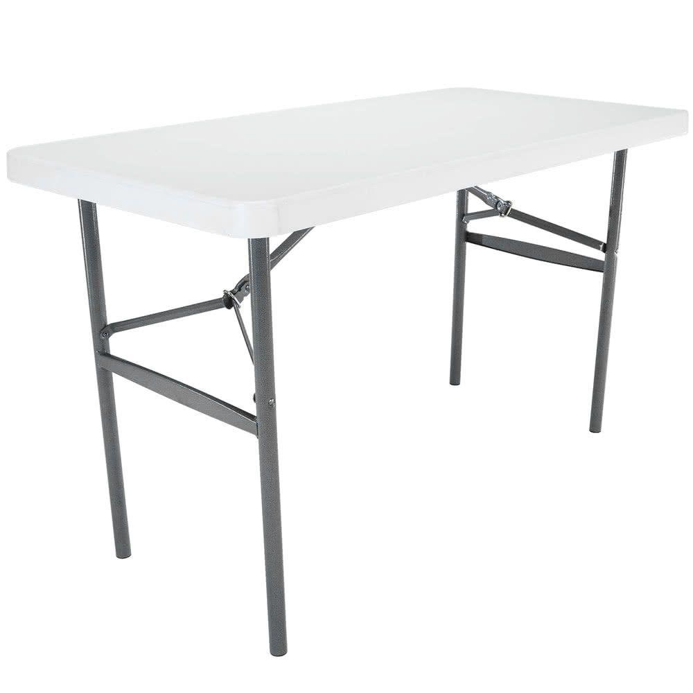 Lifetime Folding Table 24 X 48 Plastic White Granite 22950 Folding Table Bench Table Rectangular Table