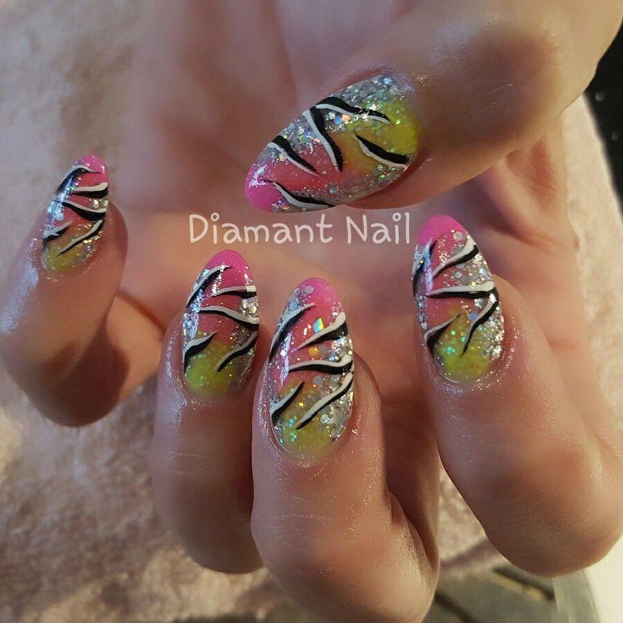 Neon met art | Nails | Pinterest | Neon and Nail nail