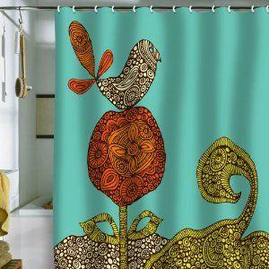 Amazon DENY Designs Valentina Ramos Bird In The Flower Shower Curtain 69 By 72 Inch Bedding Bath