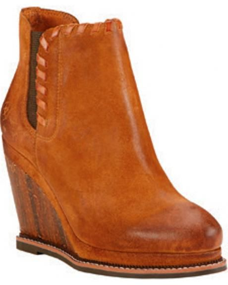 5e376937482 Ariat Women s Soho Sand Belle Wedge Boots - Round Toe