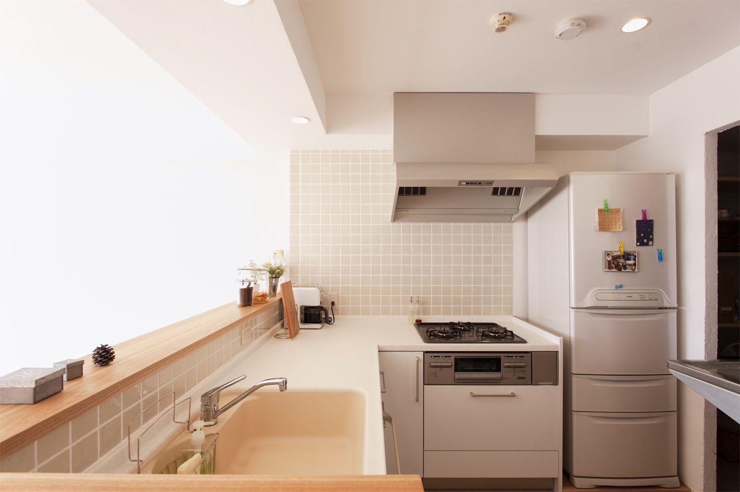 リフォーム リノベーションの事例 キッチン 施工事例no 296自然素材にこだわったシンプルハウス スタイル工房 L型キッチン キッチン おしゃれ キッチン