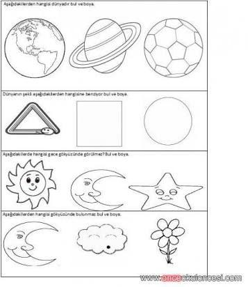 Okul öncesi Uzay Ve Gökyüzü Ile Ilgili Etkinlikler Ile Ilgili Görsel