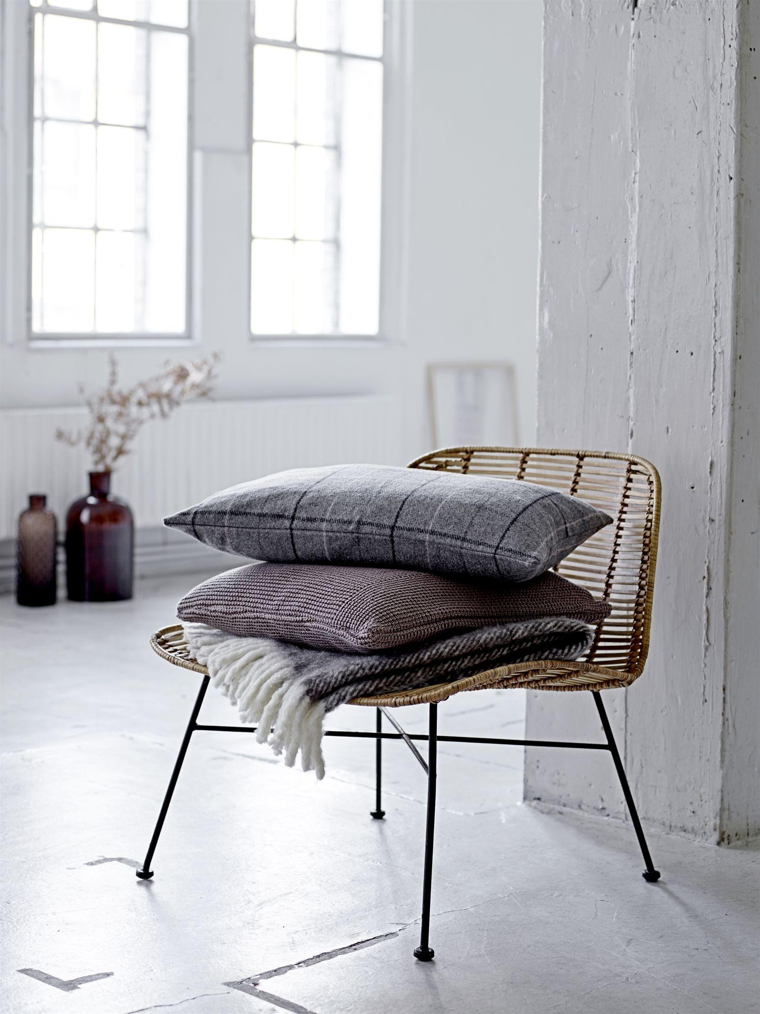 dom rattan stuhl chair nature metall schwarz bloomingville. Black Bedroom Furniture Sets. Home Design Ideas