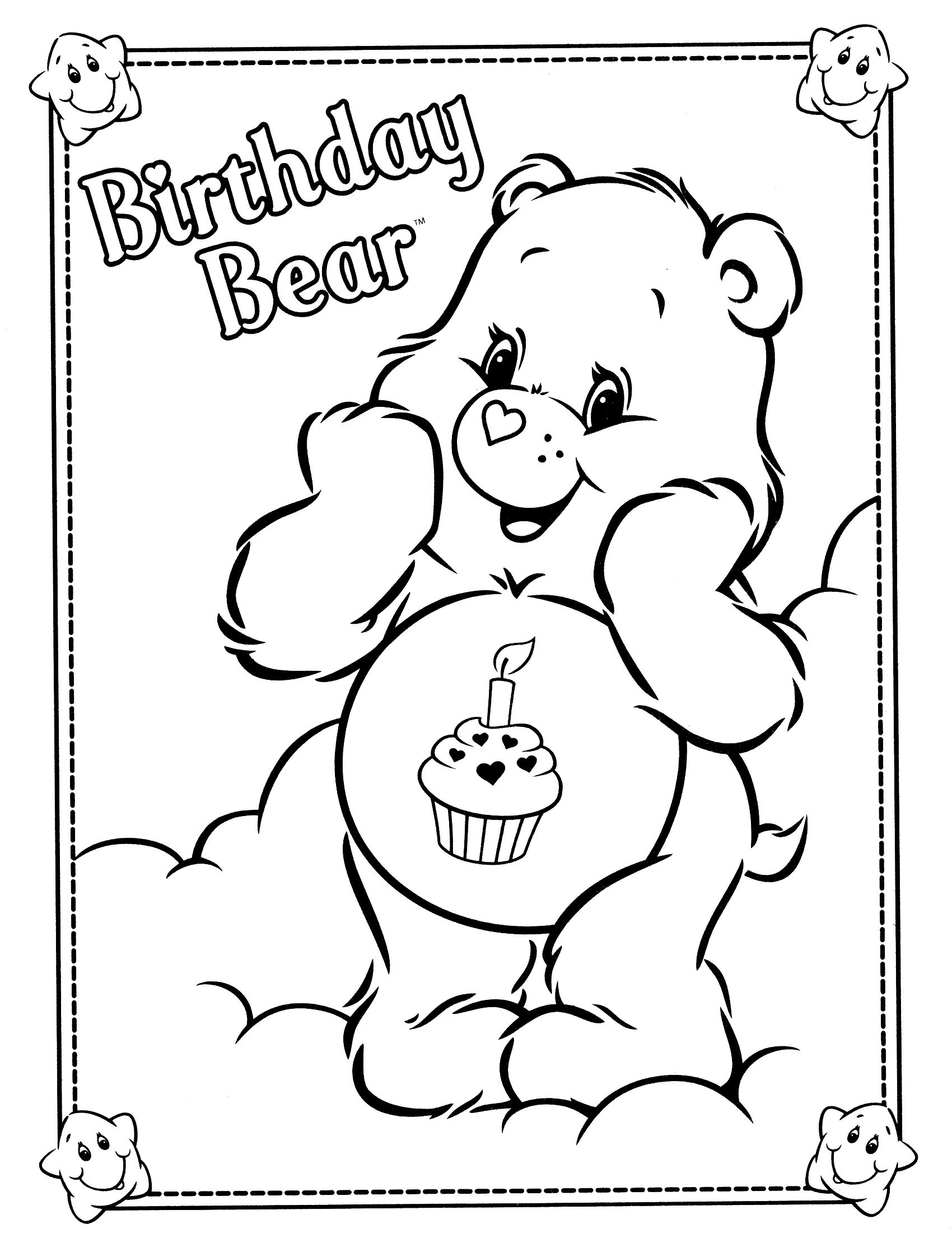 care bears coloring page Cakes