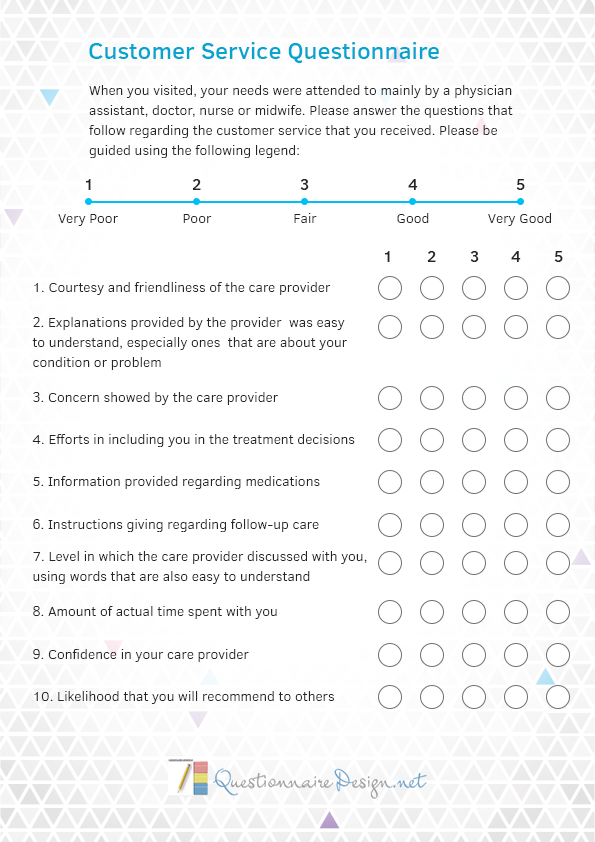Http Www Questionnairedesign Net Our Questionnaire Service Customer Service Customer Satisfaction Survey Template Questionnaire Template Questionnaire Design