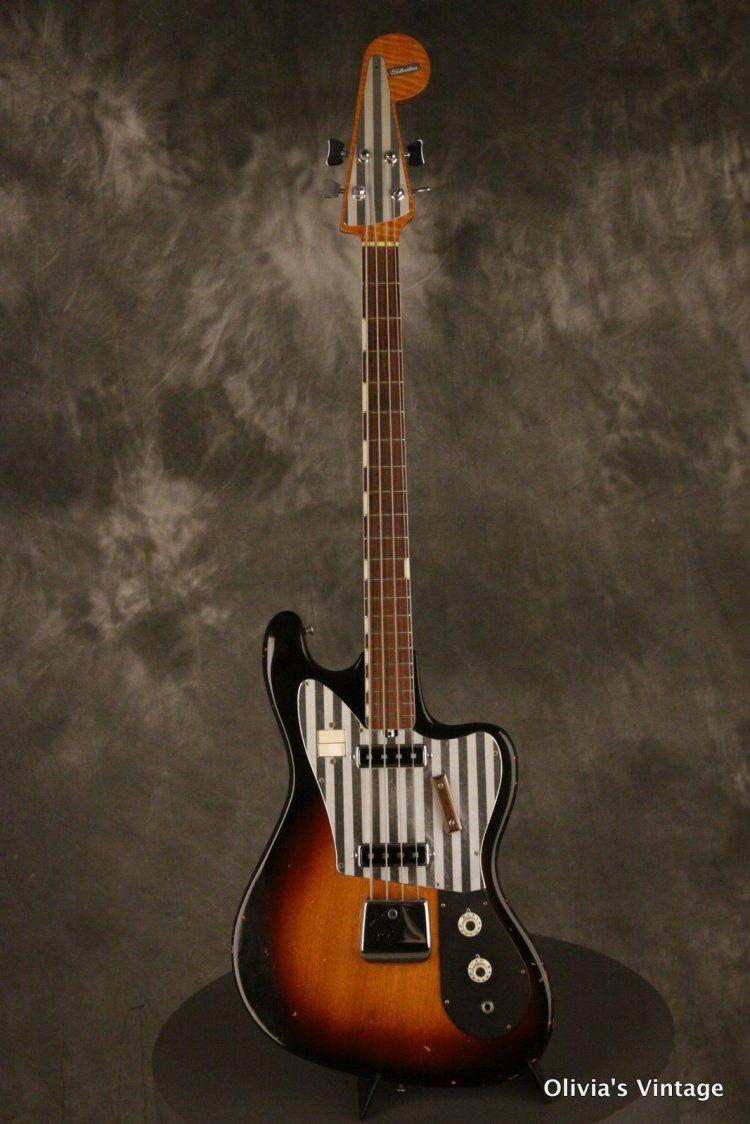 1960 S Silvertone Teisco Flea Bass Guitar Vintage Bass Guitars Bass Guitar