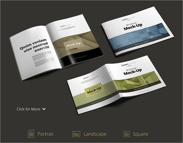 Free Catalog Brochure Mockup Templates In PSD Photoshop - Half fold brochure template free
