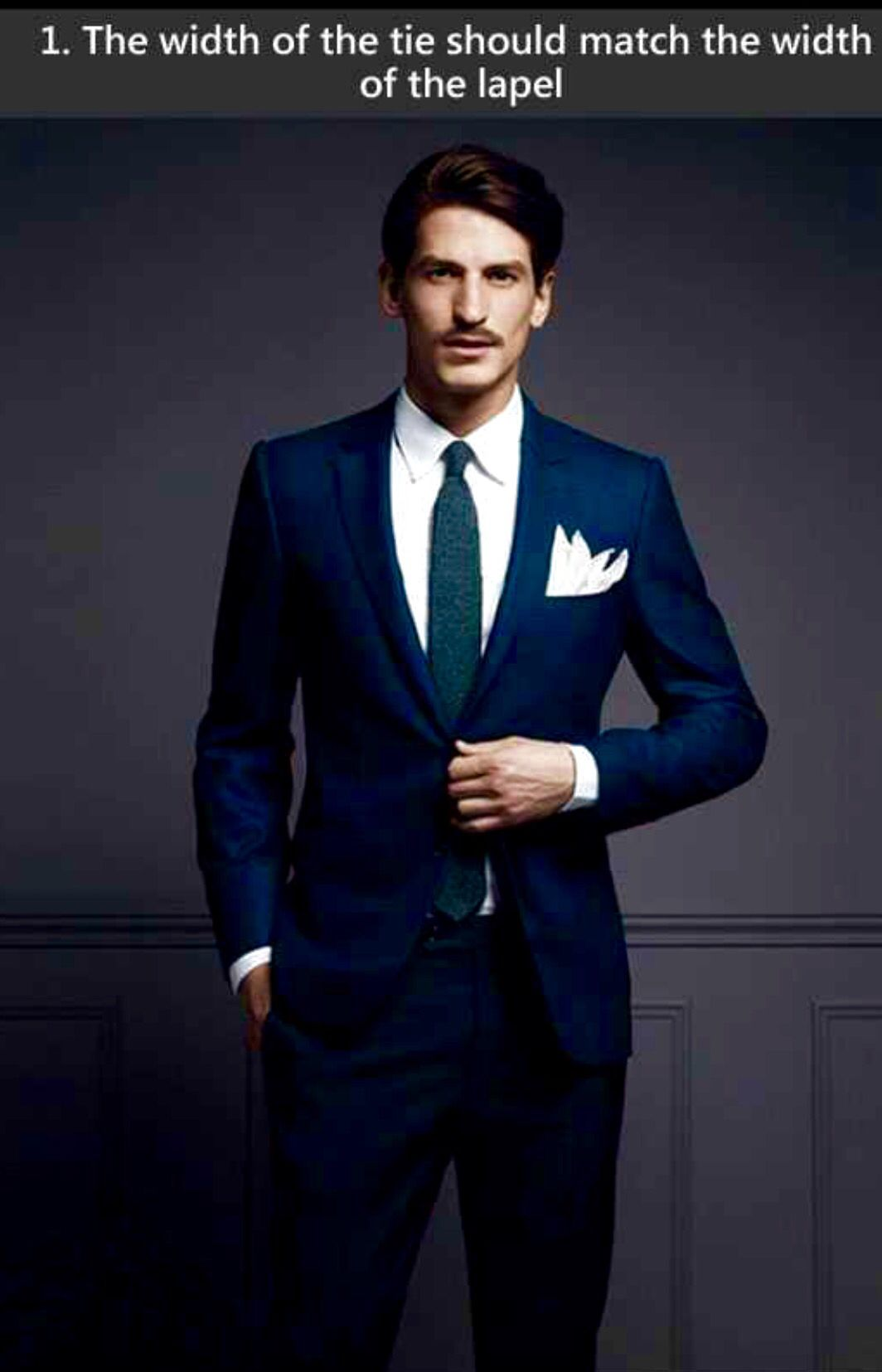 Flannel shirt under suit  The width of the tie should match the width of the lapel  Ties
