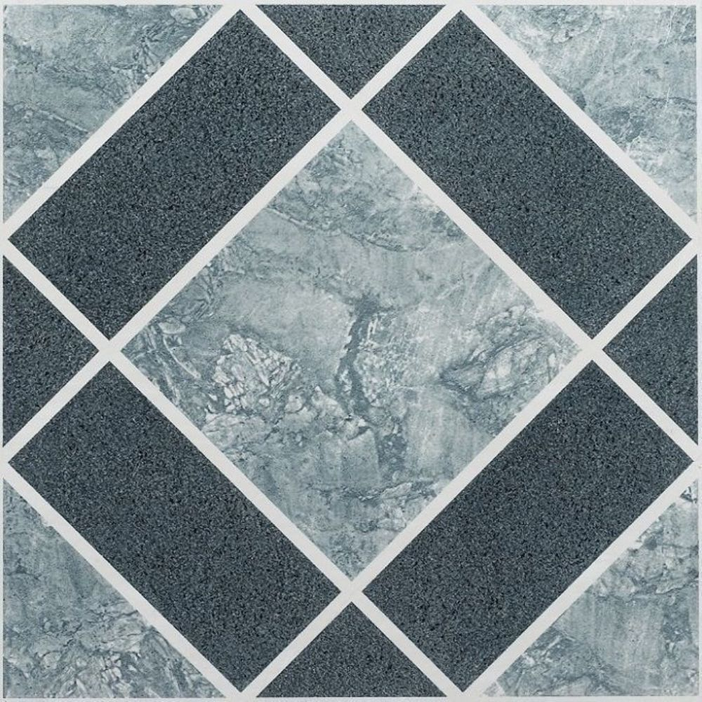 Vinyl Floor Tiles Nexus Self Adhesive 12x12inches Peel Stick Blue