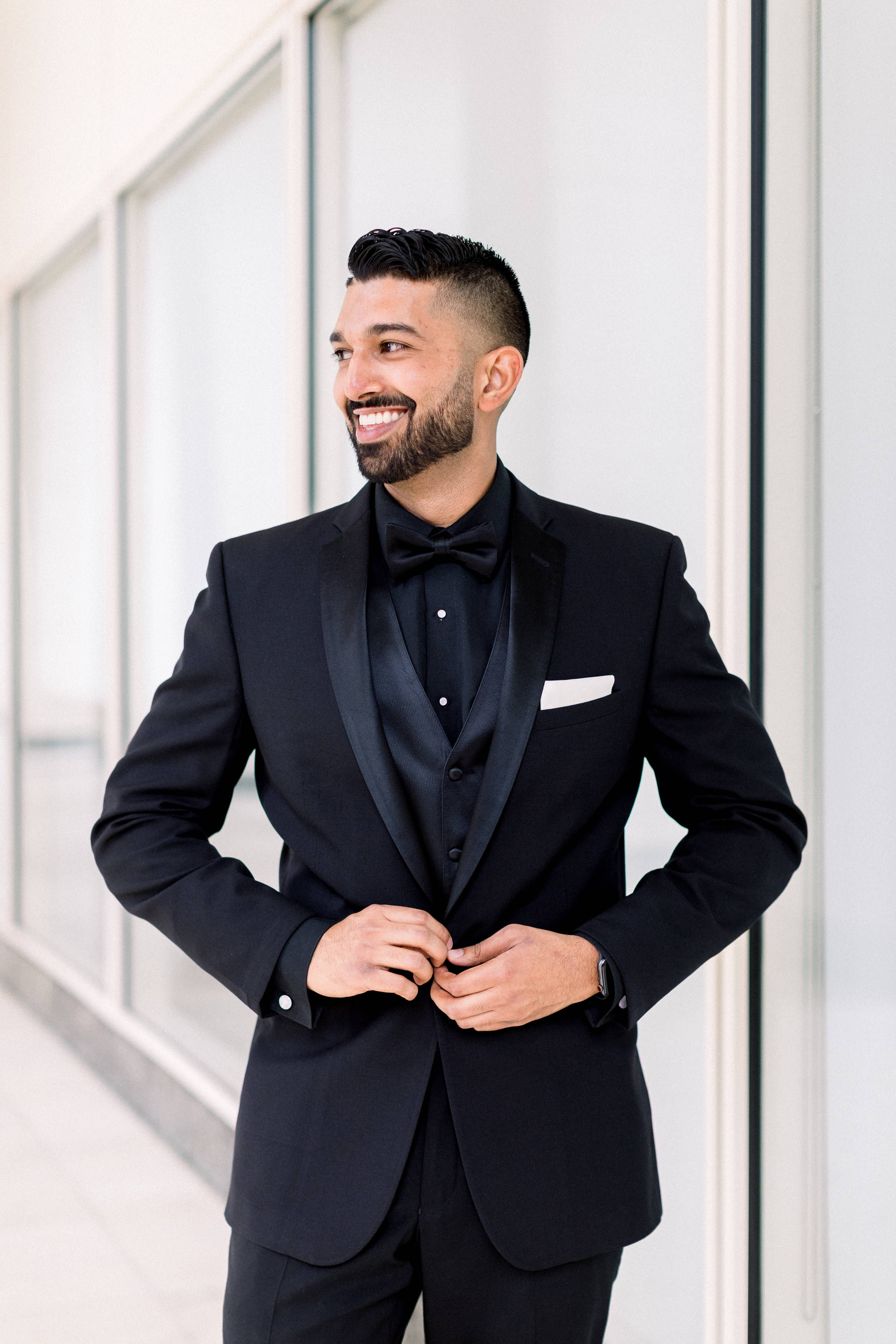 Hotel Irvine Wedding Breana And Kirk Groomsmen Attire Black Wedding Suits Men Black Black Tuxedo Wedding