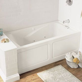 Jacuzzi Tub With Small Bench Behind It Small Soaker Tub