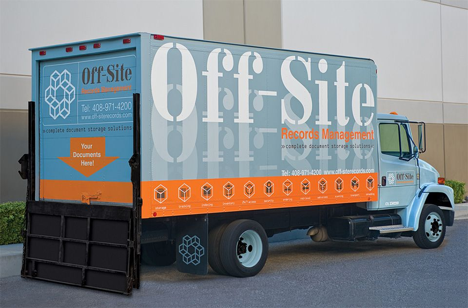 OffSite Records Management Vehicle Graphics Graphis