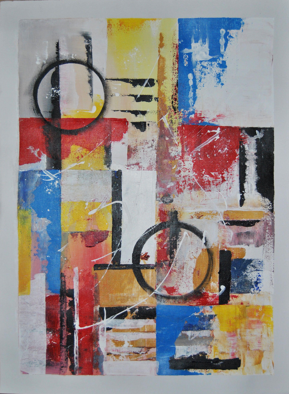 Cuadro abstracto lamina lienzo en pintura acr lica for Cuadros de decoracion baratos