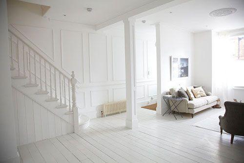 Houten vloer wit schilderen my house